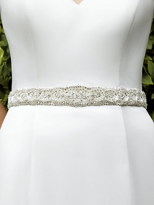Moonlight Sashes SASH-107 Beaded bridal sashes are the perfect accent for your bridal gown