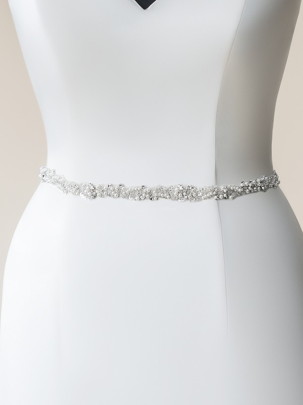 Moonlight Sashes SASH-108 Beaded bridal sashes are the perfect accent for your bridal gown