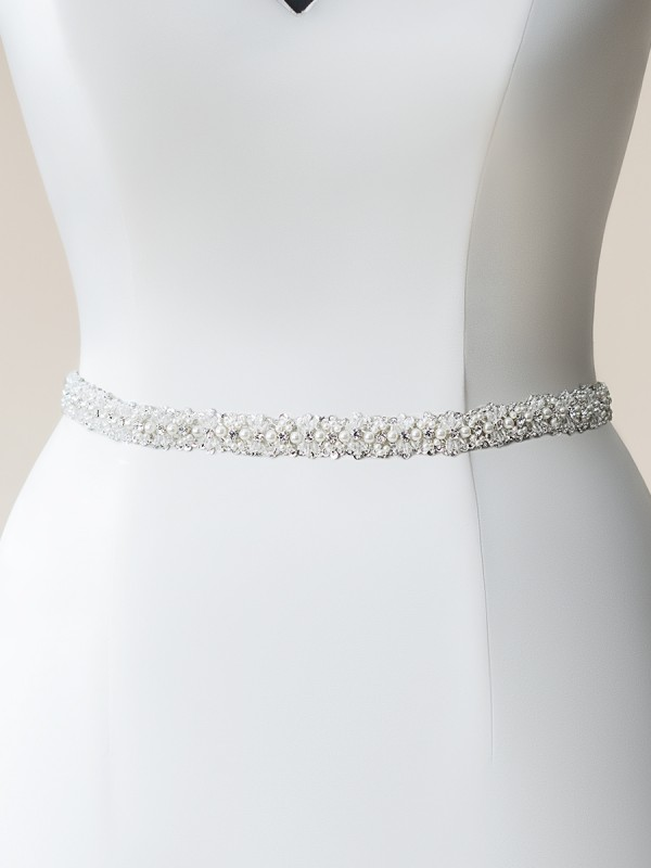 Moonlight Sashes SASH-109 Beaded bridal sashes are the perfect accent for your bridal gown