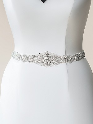 Moonlight Sashes SASH-110 Beaded bridal sashes are the perfect accent for your bridal gown