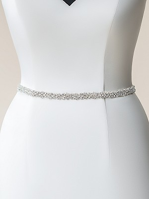 Moonlight Sashes SASH-111 Beaded bridal sashes are the perfect accent for your bridal gown