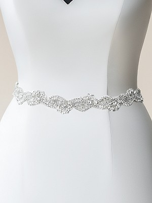 Moonlight Sashes SASH-112 Beaded bridal sashes are the perfect accent for your bridal gown