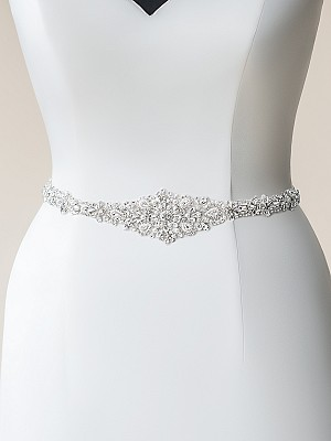 Moonlight Sashes SASH-113 Beaded bridal sashes are the perfect accent for your bridal gown