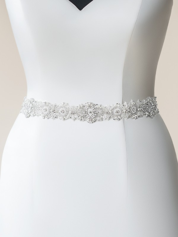 Moonlight Sashes SASH-114 Beaded bridal sashes are the perfect accent for your bridal gown