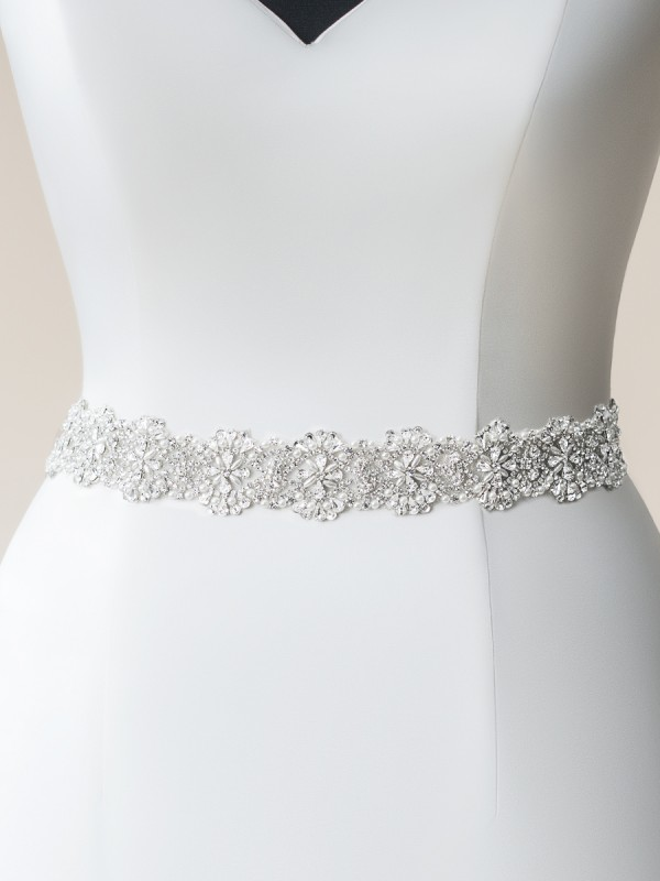 Moonlight Sashes SASH-115 Beaded bridal sashes are the perfect accent for your bridal gown