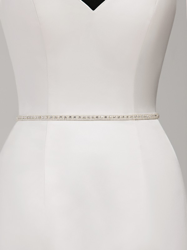 Moonlight Sashes SASH-117 Beaded bridal sashes are the perfect accent for your bridal gown