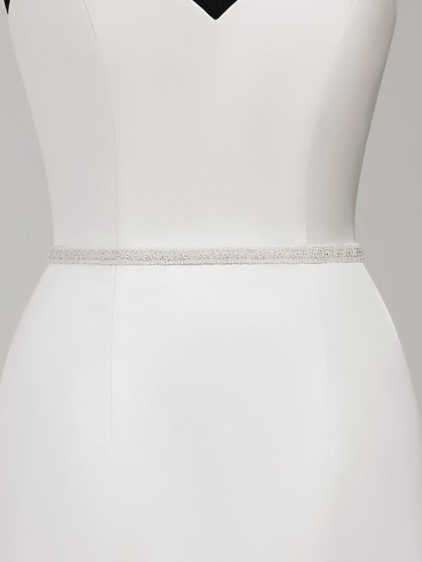 Moonlight Sashes SASH-118 Beaded bridal sashes are the perfect accent for your bridal gown