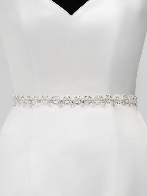 Moonlight Sashes SASH-122 Beaded bridal sashes are the perfect accent for your bridal gown