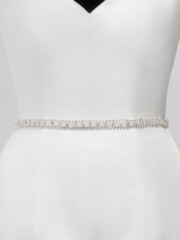 Moonlight Sashes SASH-124 Beaded bridal sashes are the perfect accent for your bridal gown