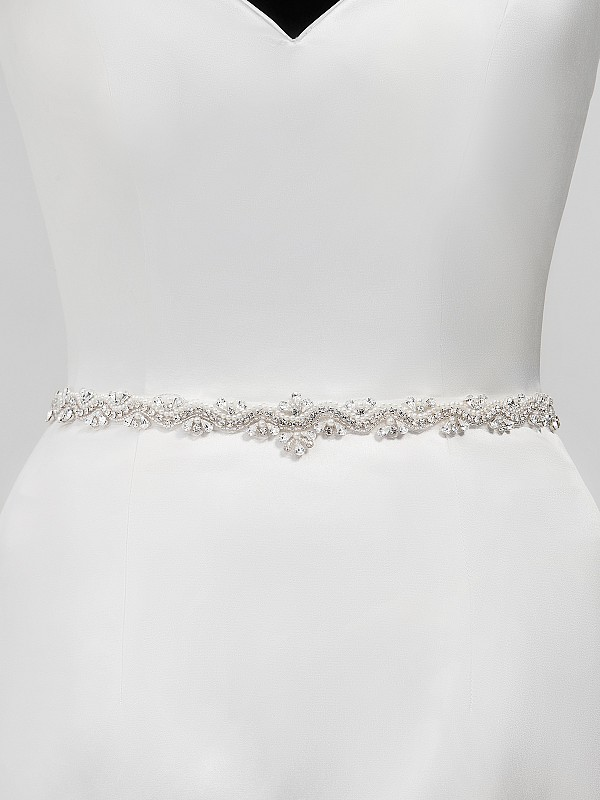 Moonlight Sashes SASH-126 Beaded bridal sashes are the perfect accent for your bridal gown