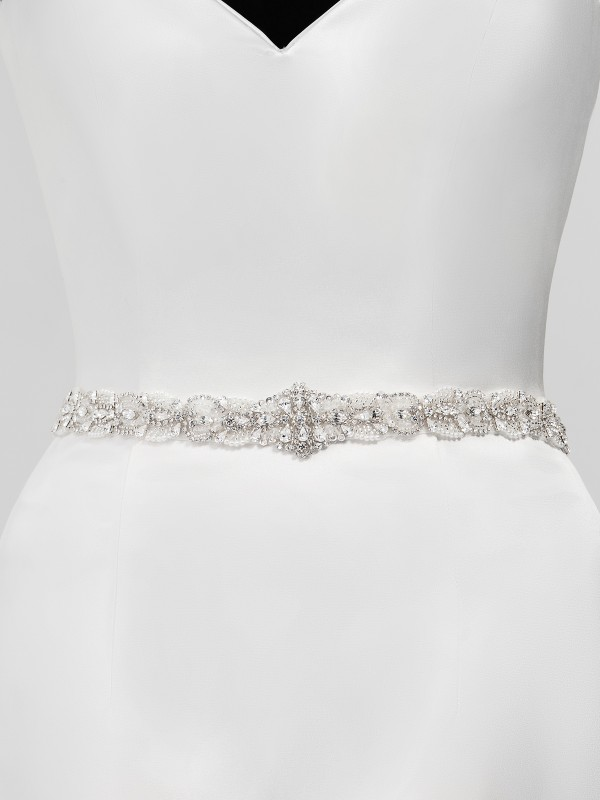 Moonlight Sashes SASH-127 Beaded bridal sashes are the perfect accent for your bridal gown