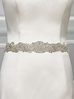 Moonlight Sashes Sash 68 Beaded bridal sashes are the perfect accent for your bridal gown