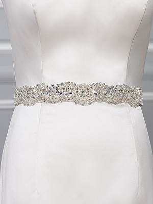 Moonlight Sashes Sash 69 Beaded bridal sashes are the perfect accent for your bridal gown