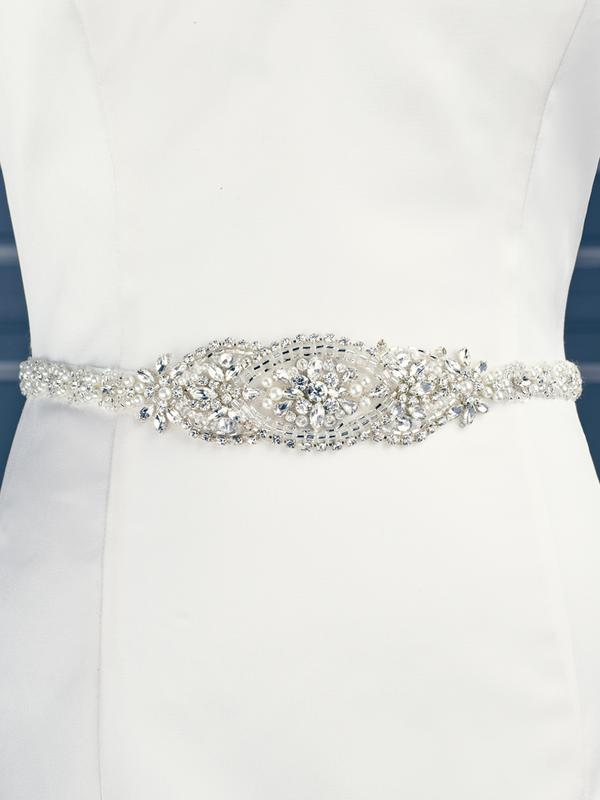 Moonlight Sashes SASH-82 Beaded bridal sashes are the perfect accent for your bridal gown