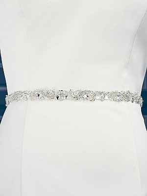 Moonlight Sashes SASH-84 Beaded bridal sashes are the perfect accent for your bridal gown