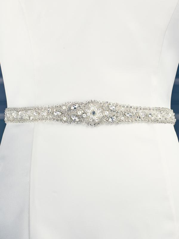 Moonlight Sashes SASH-85 Beaded bridal sashes are the perfect accent for your bridal gown