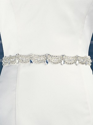 Moonlight Sashes SASH-87 Beaded bridal sashes are the perfect accent for your bridal gown
