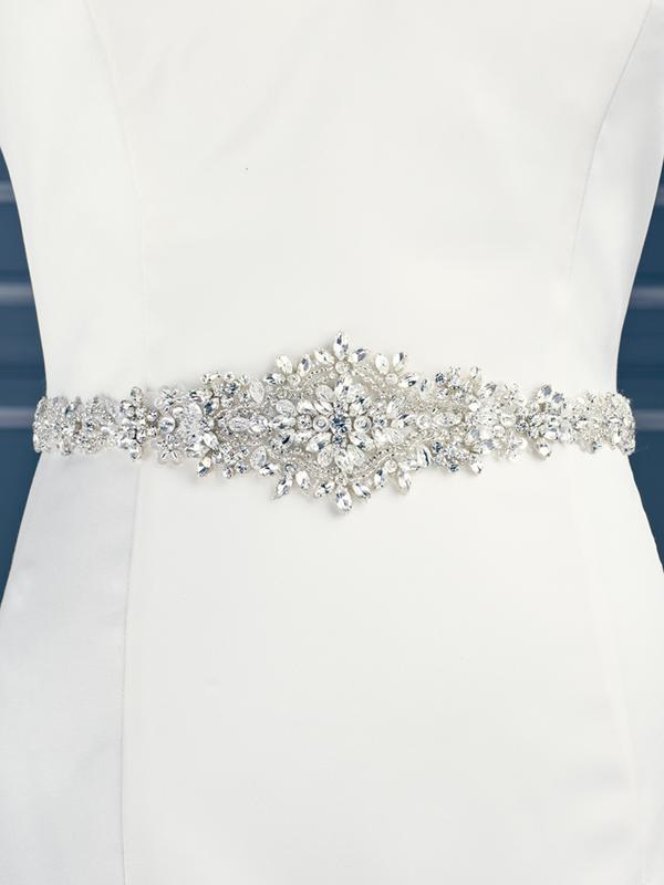 Moonlight Sashes SASH-88 Beaded bridal sashes are the perfect accent for your bridal gown