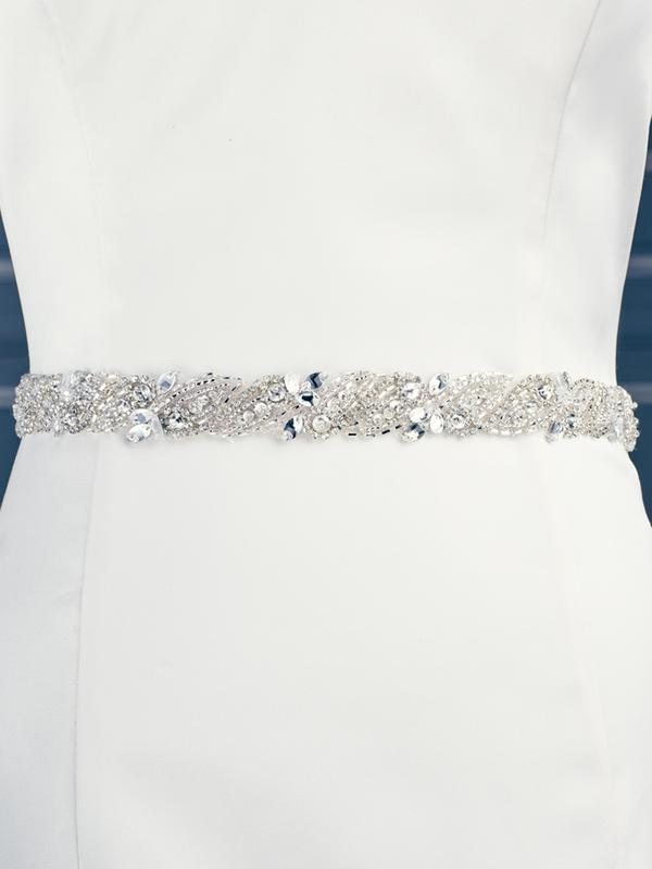 Moonlight Sashes SASH-89 Beaded bridal sashes are the perfect accent for your bridal gown