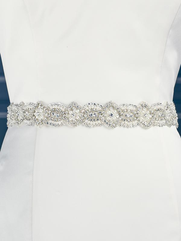 Moonlight Sashes SASH-90 Beaded bridal sashes are the perfect accent for your bridal gown