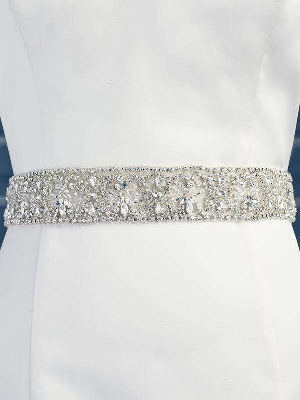 Moonlight Sashes SASH-92 Beaded bridal sashes are the perfect accent for your bridal gown