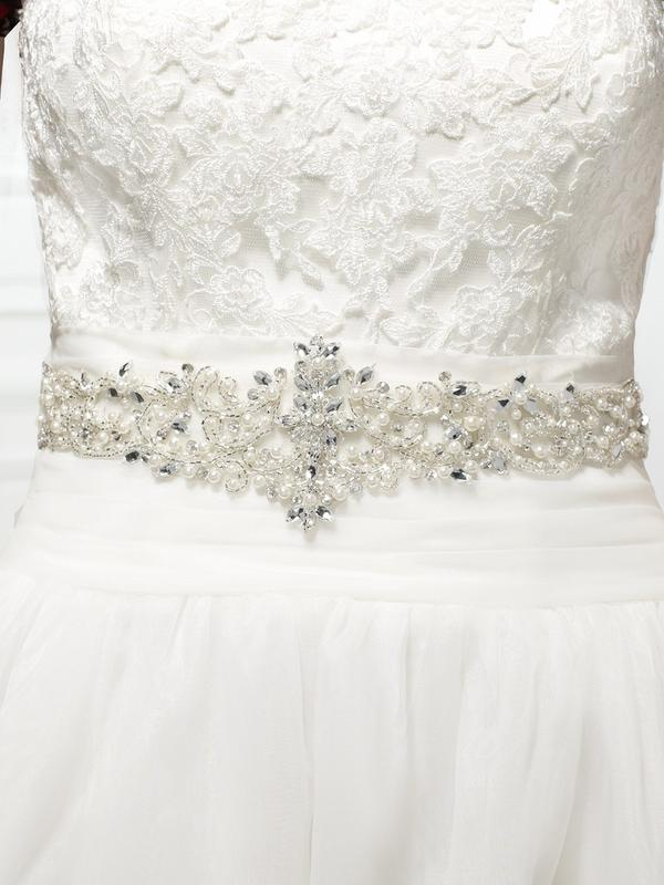 Moonlight Sashes Sash 61 Beaded bridal sashes are the perfect accent for your bridal gown