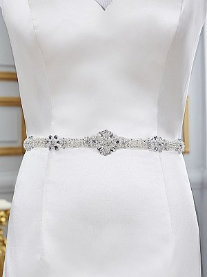Moonlight Sashes Sash 76 Beaded bridal sashes are the perfect accent for your bridal gown