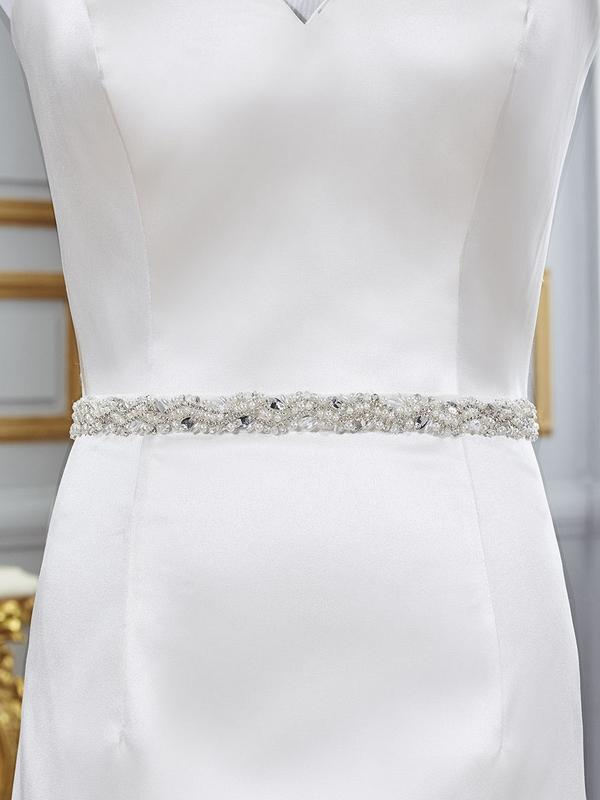 Moonlight Sashes Sash 77 Beaded bridal sashes are the perfect accent for your bridal gown