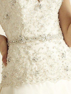Moonlight Sashes Sash 30 Beaded bridal sashes are the perfect accent for your bridal gown