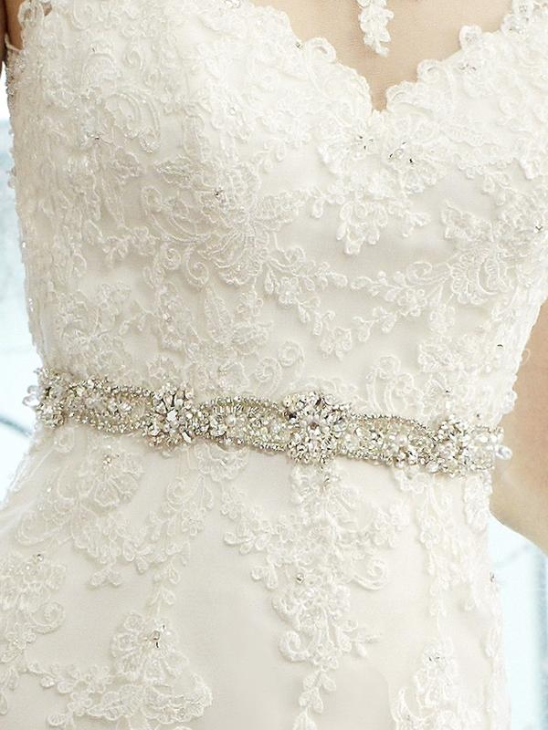 Moonlight Sashes Sash 33 Beaded bridal sashes are the perfect accent for your bridal gown