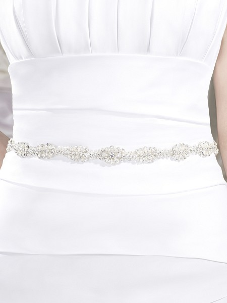 Moonlight Sashes Sash 39 Beaded bridal sashes are the perfect accent for your bridal gown
