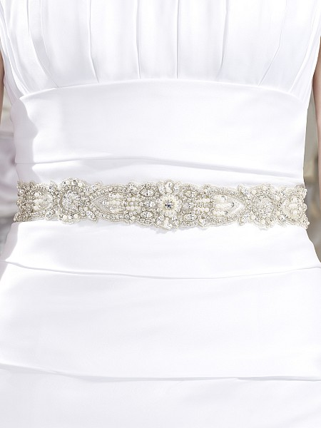 Moonlight Sashes Sash 43 Beaded bridal sashes are the perfect accent for your bridal gown