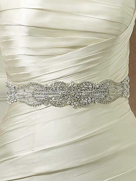 Moonlight Sashes Sash 44 Beaded bridal sashes are the perfect accent for your bridal gown