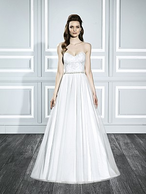 Moonlight Tango T711 strapless tulle Frozen inspired wedding dress