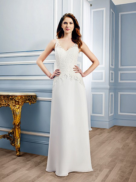Moonlight Tango T748 romantic A-line wedding dress perfect for garden weddings
