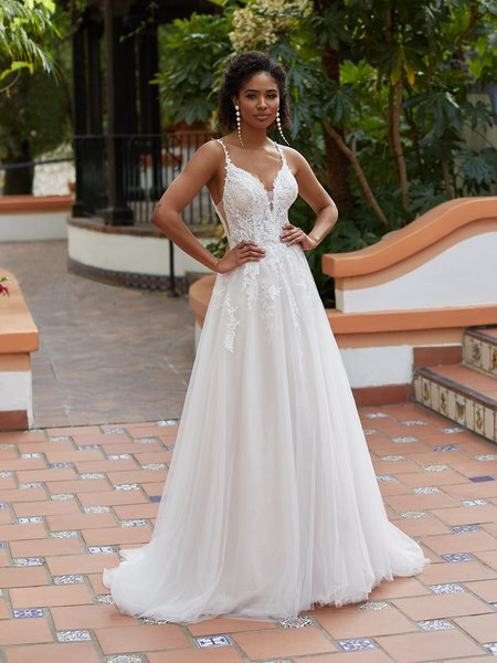 Moonlight Tango T937 comfortable bohemian lace bridal gowns for the casual bride